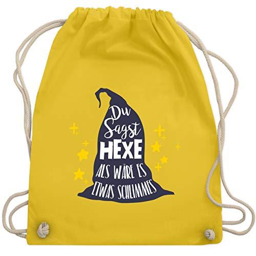 Halloween - Du sagst Hexe als wäre es etwas Schlimmes - Unisize - Gelb - WM110 - Turnbeutel & Gym Bag (Für Kostüme Halloween Ideen Gruppe)