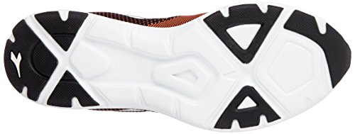 Diadora X Run Light, Scarpe da Running Uomo Nero (Nero Arancio Vibrante)