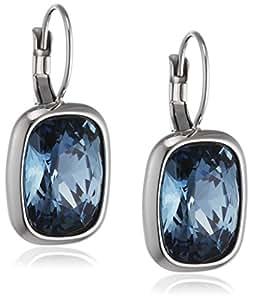 Dyrberg/kern-boucles d'oreilles pendantes femme - 15/02 rina ss blue cristal bleu - 337612 1.16 cm