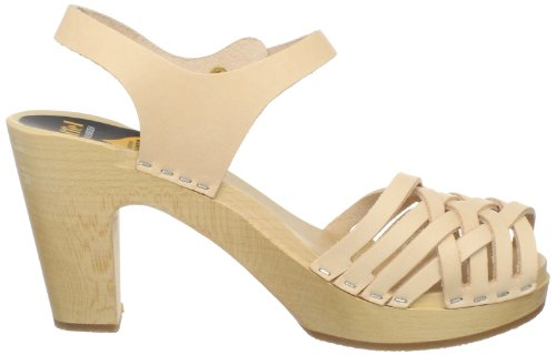 Swedish Hasbeens - Braided Sky High, Sandali da donna Beige (Beige (Nature))