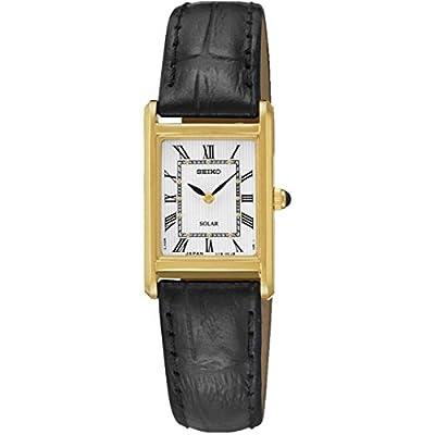 Seiko Unisex Reloj de pulsera analógico cuarzo piel sup250p1