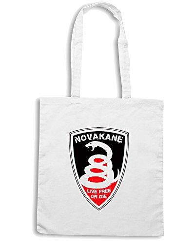 T-Shirtshock - Borsa Shopping TM0435 NOVAKANE logo Bianco