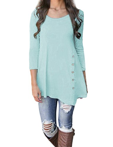 Weant Women Sweatshirt Long Sleeve Button Pullover Sweatshirt Sweater Jacket Coat Tunic Plus Size Tops Jumper Womens Sale Clearance Teen Girl T Shirt Dresses (Blue, 5XL)