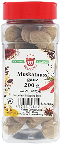 Wichartz Würzkönig Muskatnüsse ganz für Kohlrabi, Blumenkohl und Kartoffelpüree, 2er Pack (2 x 0.2 kg)