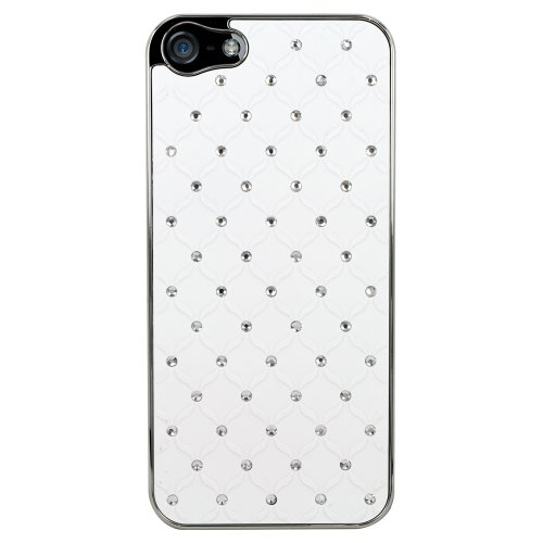 Coque blanche blingbling petits strass pour iPhone4/4S