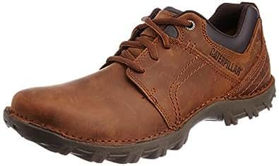Cat Men's Emerge Brown Leather Sneakers - 8 UK (P716681)