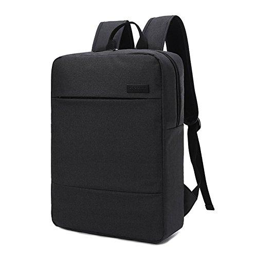 PINWHEEL Impermeabile 17 Pollice Sport Viaggi Zaino Tela Affari Backpack Multifunzionale e Multicolore Borsa del Portatile per Uomo e Donna (Nero)