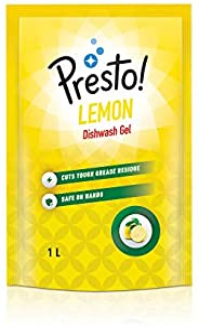 Amazon Brand - Presto! Dishwash Gel Lemon - 1 L