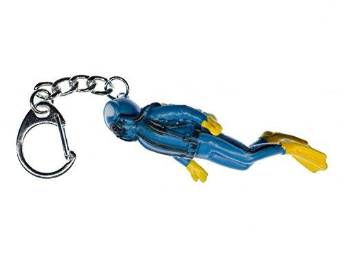 Taucher Schlüsselanhänger Miniblings Anhänger Skuba Diving Scuba Tauchen blau