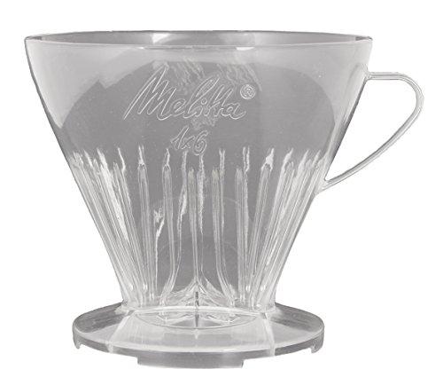 Melitta Kaffeehalter mit Kaffeemesslöffel, Kaffeefilter 1x6 Premium, Kunststoff, Transparent,...