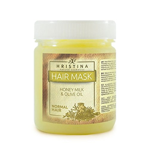 Luxe 200 ml cheveux Masque Honey Milk & Oilve Oil Produit 100% Naturel Cheveux Soins Profondeur avec Miel + avocat Huile + Neem Huile + Jojoba huile + GRATIS Hair Control Shampoing
