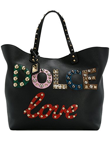 Dolce-E-Gabbana-Womens-BB6191AH09780999-Black-Leather-Tote
