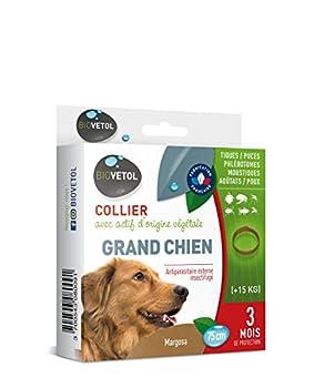 Biovetol - Collier Anti-puce pour Grand chien (+ de 15 kg)