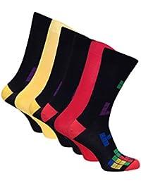 6 paires chaussettes bambou homme fantaisie dans 5 styles 40-45 eur