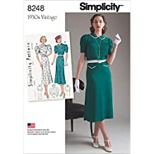Simplicity Pattern 8248 P5 Misses  Vintage 1930 – Cartamodello per Abiti da  Ragazza 5330b7d759d