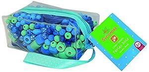 Sycomore - Perlas de Madera en cartuchera, Color Azul (CRE3120)