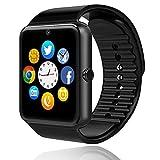 Smartwatch Bluetooth Telefono Touch con SIM Slot Orologio Intelligente per Android Orologio Fitness Uomo Donna WhatsAPP Notifiche Fitness Activity Tracker Contapassi Smart band Sport per (nero)