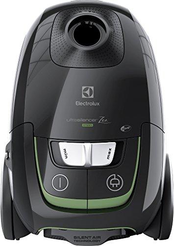 Electrolux EUS8GREEN Aspirapolvere con Sacco Ultrasilencer, Silent Zen, Aspirazione AeroPro, Sacchetto S-Bag Clinic Anti Allergy, Sistema Motion Control, Versione Green, 650 W, 3.5 Litri, Nero