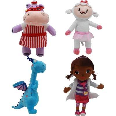 BEESCLOVER 4 teile/satz Kinder Spielzeug Geschenk Arzt Doc McStuffins Dottie Hippo Schafe Tier pl\u00fcschpuppe puppe 28-34 cm Kinder Geburtstag Geschenke EINWEG 4pcs set