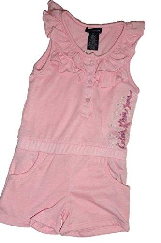 Nuovo calvin klein pagliaccetto vestito rosa 4t anni girls