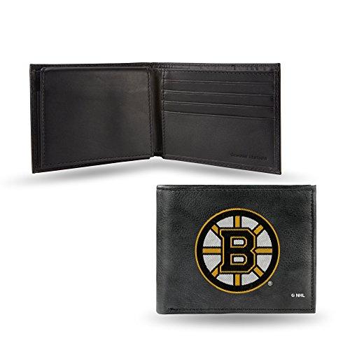 Rico Industries NHL Anaheim Ducks Geldbörse, Leder, Bestickt, Herren, Boston Bruins -