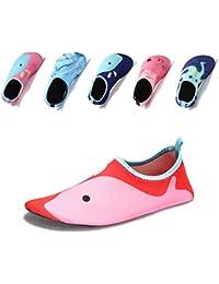 Laiwodun Toddler shoes Kids Swim Water Shoes Boys Girls Barefoot Aqua Socks Shoes for Beach Pool Surfing Yoga Unisex
