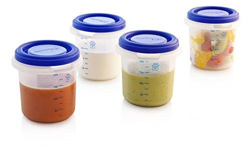 Miniland Set 4 Hermisized 85510 - Juego de 4 recipientes herméticos para bebé, color azul