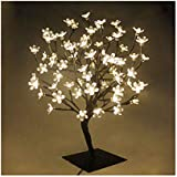 72er LED Baum 45cm Hoch Kirschbaum Lichterbaum Baum Weihnachten Ostern Innen(Warmweiß)