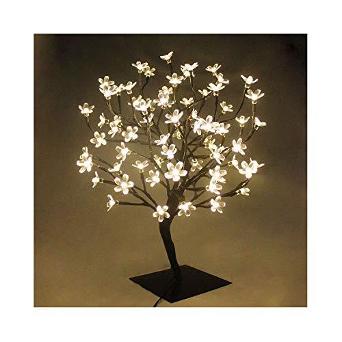 90er LED Baum 60cm Hoch Kirschbaum Lichterbaum Baum Weihnachten Innen (Warmweiß)