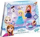 Disney Frozen Bastel-Set: 3D Bügelperlen-Bilder mit DREI Verschiedenen Figuren (Anna, ELSA, Schneemann Olaf), Stickern und Steckplatten, Geschenk für Mädchen