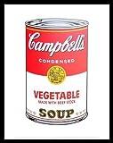 Andy Warhol Campbells Soup I 1968 vegetable Poster Kunstdruck Bild im Alu Rahmen schwarz 42x34cm - Germanposters