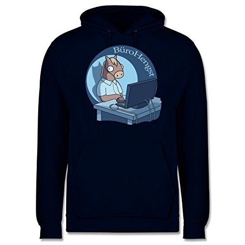 Statement Shirts - BüroHengst - Männer Premium Kapuzenpullover / Hoodie Dunkelblau