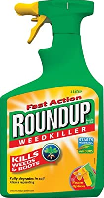 Scotts Miracle-Gro Roundup Tough Weedkiller Ready To Use Spray, 1 L