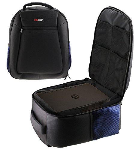 Espon Scanner (Navitech Robuste schwarz und blau Rucksack Cover für die Espon EB-670)