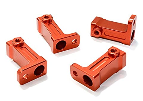 Integy RC Model Hop-ups C26723RED Billet Machined Side Rail Mount (2) for Axial 1/10 SCX-10 Scale Crawler