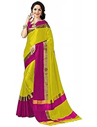High Glitz Fashion Cotton Saree With Blouse Piece