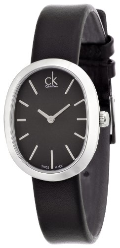 Calvin Klein Damen-Armbanduhr Analog Quarz Leder K3P231C1