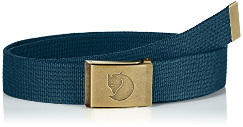 Fjällräven Herren Canvas Brass Belt 4 cm Gürtel, Glacier Green, One Size