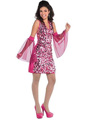 Down Groovy Kostüm 60er 70er Jahre Disco Kleid ()