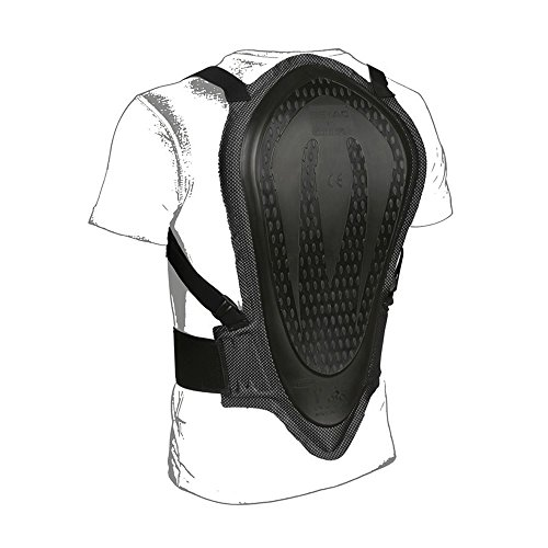 TUCANO URBANO 8091 CE APPROVED BACK PROTECTOR - CE EN 1621-2/03 type B1 approved back protector (waist-shoulder 42 cm), Schwarz, Einzig Groesse