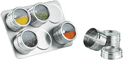 Rosenstein & Söhne Magnetisches Gewürzboard mit 6 Gewürzstreuern