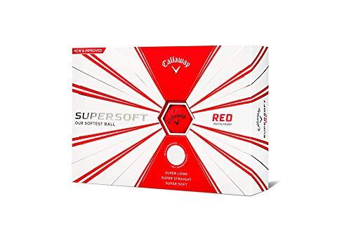 Callaway Golf 2019 Supersoft Golfbälle, Herren, Supersoft 19 Golf Ball, Red, Matte Finish