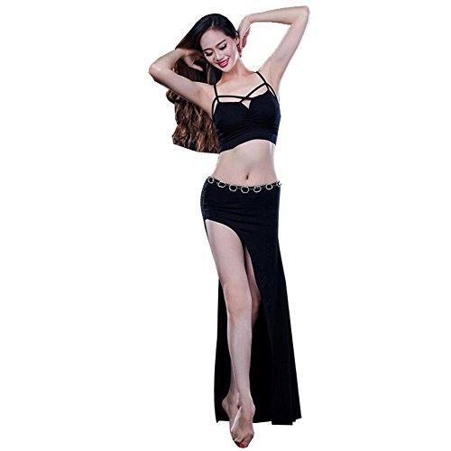 Frauen Indien Bauchtanz Praxis Kleidung Moderne Kreuzgurte Weste Rock Sicherheit Hosen Leistung Kostüm . Black . One Size (One Night Stand Kostüm Mädchen)