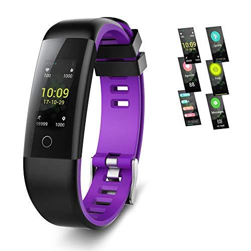 SLSH Fitness Tracker HR Laufen GPS Einheiten Touch Screen Activity Tracker Smart Watch mit Pulsmesser Schlaf Monitor Schrittzähler Kalorienzähler Sport Armband Uhr für iOS/Android