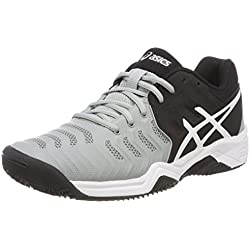 Asics Gel-Resolution 7 Clay GS, Zapatillas de Tenis para Niños, (Mid Greyblackwhite), 35 EU