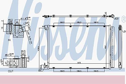 Nissens 940432Kondensator für Klimaanlage
