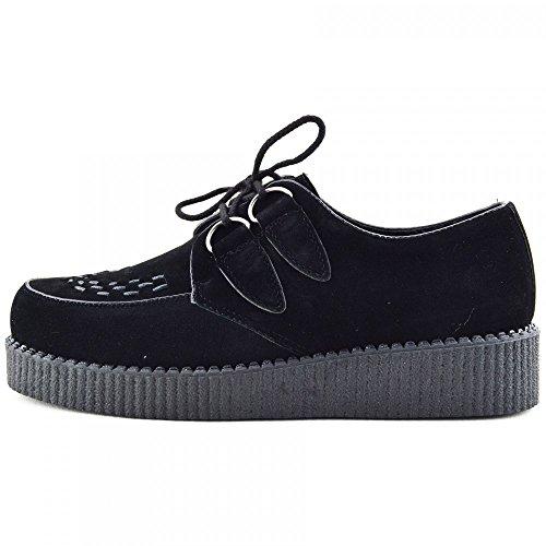mens-enredaderas-de-la-moda-negro-pisos-vestido-formal-de-zapatos-reino-unido-el-9-ue-43-negro