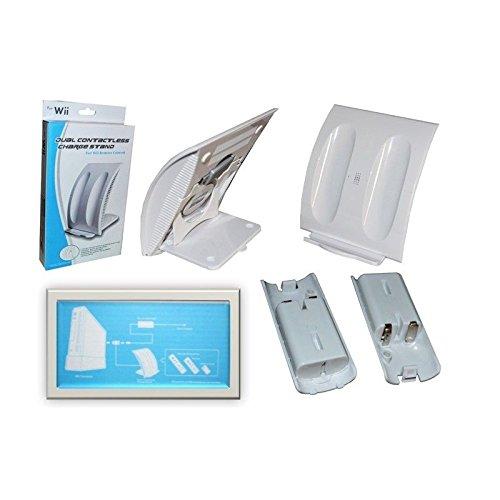 Ladegerät 2Controller-Ladekabel für Nintendo Wii mit 2Akkus 500mAh - Wii Mit Controllern Zwei
