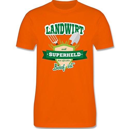 Landwirt - Landwirt - weil Superheld kein offizieller Beruf ist - Herren Premium T-Shirt Orange