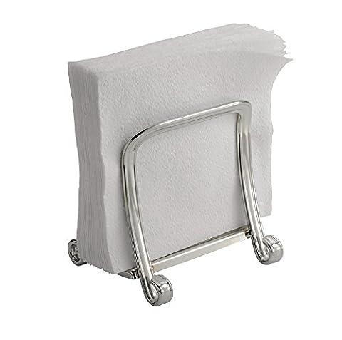 mDesign Porte-serviettes en papier pour cuisine, table ou plan de travail - Chrome